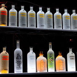 Liquor Shelf Display LED Lighted Bottle Display - Liquor Shelf Display: Liquor LED Display for your Bar, Cafe, Get Huge Range of constructed liquor bottle display shelf Liquor Shelf LED Display At Armana Production.