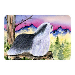 Caroline's Treasures - Bearded Collie Kitchen or Bath Mat 20 x 30 - Kitchen or Bath Comfort Floor Mat This mat is 20 inch by 30 inch. Comfort Mat / Carpet / Rug that is Made and Printed in the USA. A foam cushion is attached to the bottom of the mat for comfort when standing. The mat has been permanently dyed for moderate traffic. Durable and fade resistant. The back of the mat is rubber backed to keep the mat from slipping on a smooth floor. Use pressure and water from garden hose or power washer to clean the mat. Vacuuming only with the hard wood floor setting, as to not pull up the knap of the felt. Avoid soap or cleaner that produces suds when cleaning. It will be difficult to get the suds out of the mat.