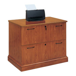 DMi Furniture - DMi Belmont 2-Drawer Lateral Wood Letter/Legal File Cabinet-Executive Cherry - DMi Furniture - Filing Cabinets - 713016 - The warmth of transitional styling enhanced with elegant details. Inlaid cherry veneer bordered by walnut banding and double beaded crown mouldings provide unique details.