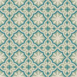 Teal Medallion Cement Tile - BY AMETHYST ARTISAN