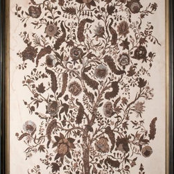 """Tree of Life 1"" Silver-Leaf Original Painting - The image of the Tree of Life is always beautiful, and it brings a natural, artistic element to a dining space."