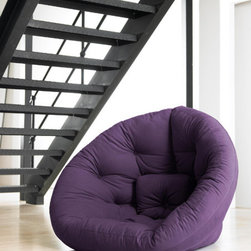 Fresh Futon - Fresh Futon Nest Chair - A fresh look and clever design are signature elements of the Fresh Futon Nest chair. Easily convertible, the Nest opens up to become a supportive semicircular mattress. Combine two to create a large, multifunctional sleep surface. Perfect for lounging around, the cozy Nest is constructed from a soft and durable cotton/polyester twill and high quality foam and batting. Available in a variety of fabric colors. Features: -Superior combination of comfort and functionality. -Soft & Durable Polycotton Twill Cover. -Fresh Design & Vibrant Colors. -Futon Mattress made in USA; Manufactured using zero-waste production techniques.