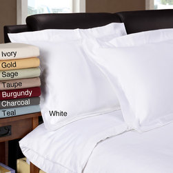 None - Egyptian Cotton 1200 Thread Count 3-piece Duvet Cover Set - This comfortable duvet cover set is made from 1200-thread-count Egyptian cotton for the ultimate comfort and quality. Available in a variety of colors and sizes,you'll be able to find the perfect match for your bedroom.