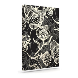 """Kess InHouse - Gill Eggleston """"Future Nouveau Lite"""" Black White Wrapped Art Canvas (8"""" x 10"""") - Bring your outdoor patio to life with this artistic outdoor canvas wrap featuring gorgeous artwork by KESS InHouse. These canvases are not only easy to hang and remove but also are the perfect addition to your patio collection. These canvases are stretched around a wooden frame and are built to withstand the elements and still look artistically fabulous. Decorating your patio and walls with these prints will add the splash of art and color that is needed to bring your patio collection together! With so many size options and artwork to choose from, there is no way to go wrong with these KESS Canvas Wraps!"""