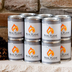 Real Flame - Real Flame 13-oz Gel Fuel (Pack of 12) - Materials: Isopropyl alcohol,steelIncludes 12 13-ounce cans No installation required
