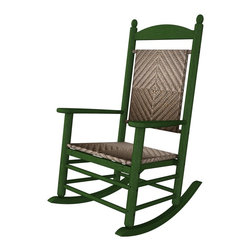 Porch Rocker Green All Weather  Recycled Plastic Furniture -