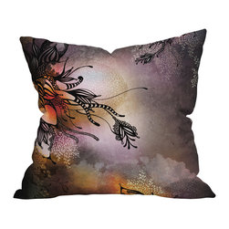 DENY Designs - Iveta Abolina Purple Rain Throw Pillow, 26x26x7 - This soft, dreamy design evokes a pen-and-ink drawing in the clouds. It's printed on both sides and is a beautiful way to turn your living room into more of a comfort zone.