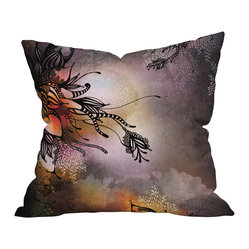 Iveta Abolina Purple Rain Throw Pillow, 26x26x7