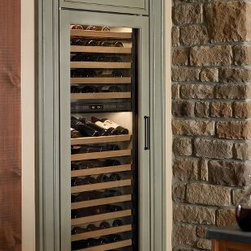Sub-Zero Wine Refrigerator 424 - The largest wine storage unit offered by Sub-Zero, it can house up to 147 bottles. You can set temperatures from 39°F to 65°F and control zones of temperature.