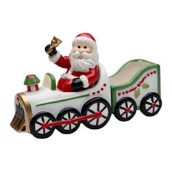Cosmos - Santa Ringing Bell and Driving Train Salt and Pepper Shakers - This gorgeous Santa Ringing Bell and Driving Train Salt and Pepper Shakers has the finest details and highest quality you will find anywhere! Santa Ringing Bell and Driving Train Salt and Pepper Shakers is truly remarkable.