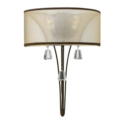 Fredrick Ramond - Fredrick Ramond FR45602FBZ Mime French Bronze Wall Sconce - Fredrick Ramond FR45602FBZ Mime French Bronze Wall Sconce