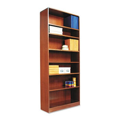 Alera - Alera BCR78436MC Aleradius Corner Wood Veneer Bookcase - Medium Cherry Multicolo - Shop for Bookcases from Hayneedle.com! About AleraWith the goal of meeting the needs of all offices -- big or small casual or serious -- Alera offers an excellent line of furnishings that you'll love to see Monday through Friday. Alera is committed to quality innovative design precision styling and premium ergonomics ensuring consistent satisfaction.