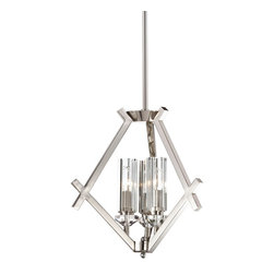 Minka Metropolitan Fusano 3-Light Mini Pendant Chandelier N6832-613 - LOVELY 3-LIGHT FUSANO MINI CHANDELIER FROM LEE LIGHTING.