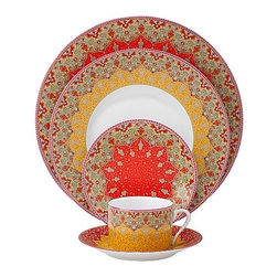 Philippe Deshoulieres 'Dhara' Dinnerware - Remember: It's not always about how well you cook, but how your present your food. Make the most of your meal with this hand-painted dishware with intricate designs.