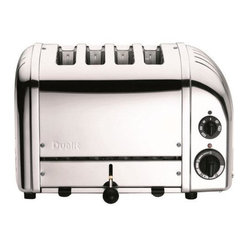 Dualit 4-Slice Classic Bread Toaster, Chrome