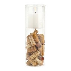 Glass Vase Candle Holder -