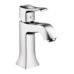 Hansgrohe - Hansgrohe - Metris C Single Hole Lav - 31075001 - Chrome - Experience great performance with the Hansgrohe Metris C Single Hole 1-Handle Mid-Arc Bathroom Faucet in Chrome, featuring a single-handle design that operates smoothly. A ceramic disc cartridge helps provide drip-free usage for added convenience. The chrome finish weathers everyday use to retain its luster, and the included drain lets you achieve a coordinated look.