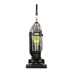 Eureka - Eureka Whirlwind Rewind Upright Vacuum, 19 lbs., Black/Spritz Green - Features a powerful 12-amp motor for better cleaning and on-board tools. Bagless vacuum has cyclonic technology, an easy-to-empty dirt cup and a HEPA filter. Ergonomic handle and automatic cord rewind makes it easy on you. Stretch hose provides added reach for above-the-floor cleaning. Long cord stores with one easy touch on an automatic cord rewind. Edge Kleeners clean against baseboards where dirt collects.