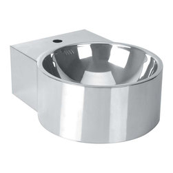 Renovators Supply - Vessel Sinks Stainless Steel Double Layer Vessel Sink Only - Double Layer Stainless Steel Vessel Sinks are stunning in look and design! The sturdy double layered vessel sink allows the overflow to be concealed and out of sight! Also the double layer construction prevents condensation and noise unlike other flimsy metal vessel sinks. Easy to clean, easy to install and easy on the eyes!