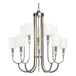 Thomasville Lighting - Thomasville Lighting Splendid Chandelier with Etched Opal, Brushed Nickel X-90-1 - Thomasville Lighting Splendid Chandelier with Etched Opal, Brushed Nickel X-90-1864P