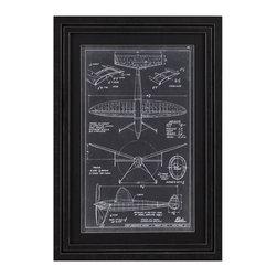 Bassett Mirror Company - Bassett Mirror Company Aeronautic Blueprint III Framed Art - Aeronautic Blueprint III Framed Art by Bassett Mirror Company Framed Art (1)