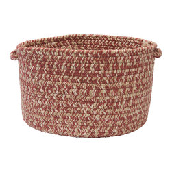 "Colonial Mills, Inc. - Tremont, Rosewood Utility Basket, 18""X12"" - Soft but sturdy, this wool-blend braided basket is ideal for a kids' room, playroom, laundry room or poolside. Made in the USA and available in this exquisite pale, neutral color, it's a clever way to keep clutter under control."