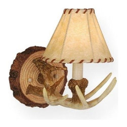 Vaxcel Lighting - Vaxcel Lighting WL33041 Lodge 1 Light Wall Sconce - Features: