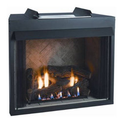"""Empire - 42"""" Vent-Free Firebox, Flush Face - Empire Comfort Systems 42"""" Breckenridge Select Vent Free Firebox. Ideal for built-in installation, the Breckenridge Radiant Fireboxes have a clean face plate and are perfect for custom finishes that use stone, marble or brick. All of Empire's Breckenridge Vent-Free Universal Fireboxes are zero clearance certified and are easy to install with a quick gas hook-up."""