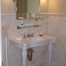 Traditional Bathroom by Deborah Toland at Carole Kitchen and Bath