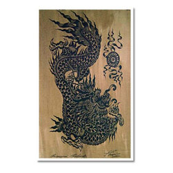 Oriental-Décor - Tattoo Dragon - One of our best-selling Japanese prints, this amazing work of art depicts an Asian dragon, which represents wisdom and strength in Asian lore.