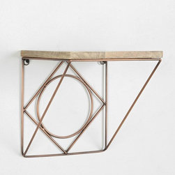 Magical Thinking Geo Wire Wall Shelf - I love this geometric metal wall shelf. I would hang it right by my work desk to keep a little greenery nearby and brighten my space.