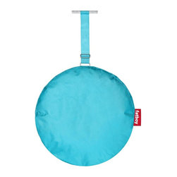 Fatboy - Headdemock Pillow in Turquoise - Protective coating for dirt and moisture resistance. Filled with chopped foam for the perfect soothing neck support. Easy to clean with lukewarm water and neutral soap. Made from very flexible and high quality polyester. 22 in. Dia. x 3 in. H (2 lbs.)For all you headdemock owners, Im here to help nourish your body by pampering your head like an Asian neck masseuse. Attaching me to the Headdemock is easy as holding hands. By the way, in case youre wondering. Your eyes are reading this all correctly. My name for this soothing softness is Pillow! No typo! For some normal reason, I didnt get a crazy name like my other family members. So no Cushy the Fluffy or Pillow, just Pillow! Thank you, youre welcome!