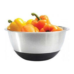 Amco 6.5 Qt. Mixing Bowl - Perfect for mixing serving and storing most anything our mixing bowls are the perfect addition to any cook's or baker's kitchen. The silicone bottom makes this bowl perfect when whisking stirring or using an electric mixer.