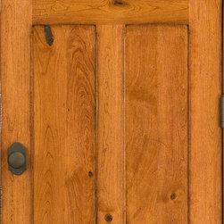 Rustic Doors Solid Cherry 4 Panel Door With Distressed Finish This Door Was Custom Made To