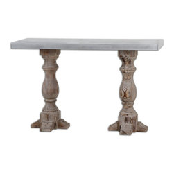 Uttermost - Uttermost 24324 Martel Natural Stained Accent Table - Uttermost 24324 Martel Natural Stained Accent Table