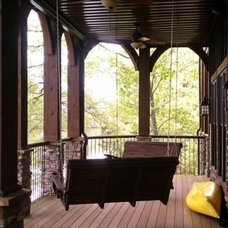 Traditional Porch by Max Fulbright Designs