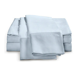 ExceptionalSheets - 300 Thread Count - Egyptian Cotton Sheet Set by ExceptionalSheets - Experience affordable luxury with our Sheet Kings 100-percent Egyptian Cotton sheet sets. These sheets are comfortable and perfect for everyday use while providing you a little bit of heaven when you get into your bed at night. The one-ply sheets have a sateen weave and the fitted sheet is fully elasticized.
