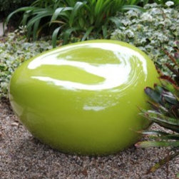 "www.shopboxhill.com - PEBBLE SEAT - ""Pebble"" is an organically-shaped seating sculpture that is both furniture and art. Pebbles can be featured as individual seating sculptures or in groups to be arranged in many configurations; they become installations of art and functional resting areas in their assembly. Each pebble is constructed with fiberglass and completed with a smooth resin finish, is waterproof and protected against UV rays."