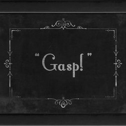 The Artwork Factory - Silent Movie Gasp Framed Artwork - Ready-to-Hang, 100% Made in the USA, museum quality framed artwork