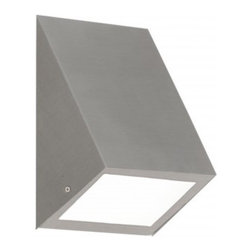 Eglo - Arktic 1 Light Outdoor Wall Light - Arktic Outdoor Wall Light in Stainless Steel Finish and Base with Clear Glass.