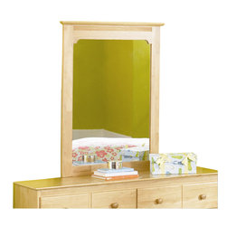 Atlantic Furniture - Atlantic Furniture Windsor Portrait Mirror in Natural Maple - Atlantic Furniture - Mirrors - C69005 - Traditional in style and design with it's slim-line overhang top, arched frame-crown and wood grain finish, the Windsor Portrait Mirror will be a tasteful addition to your private space.