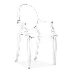 Zuo Modern - Zuo Anime Acrylic Dining Chair Transparent [Set of 4] - Made of a durable and flexible Acrylic  this nouveau iconic chair stacks and comes in solid dye or transparent. The Anime is warrantied against cracking for two years of commercial use.