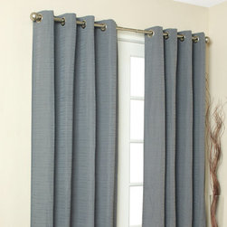Grandin Road - Cite Single Curtain Panel - Slub-textured window curtain panel. Each panel is sold separately. Made from 100% polyester. Each panel attaches to a curtain rod (not included) with nickel-plated metal grommets. Dry clean only. Drape your windows with the sophisticated style and texture of the Cite curtain panels. The heavy weave of the chic slubbed fabric makes a beautiful foundation for any room; nickel-plated metal grommets finish the look. Select your favorite classic color; each solid-hued panel is sold separately.. . . . . Imported.