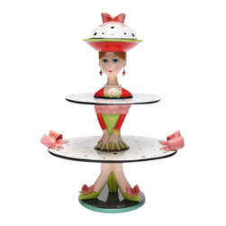 ATD - 3 Piece Set of Multiple Sized Dilly Dots Cake Stands Display - This gorgeous 3 Piece Set of Multiple Sized Dilly Dots Cake Stands Display has the finest details and highest quality you will find anywhere! 3 Piece Set of Multiple Sized Dilly Dots Cake Stands Display is truly remarkable.