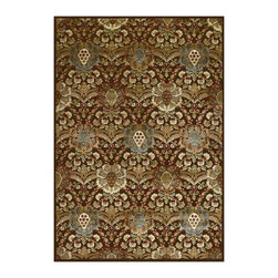 """Couristan - Cire` Capshaw Rug 1354/7270 - 2'1"""" x 3'7"""" - True works of art for your floor, these area rugs are designed to adorn traditional stylings, as well as contemporary. Use a secondary color found in the palette of the area rug as inspiration for wall paint and add throw pillows with similar textures, to add a designer flair."""