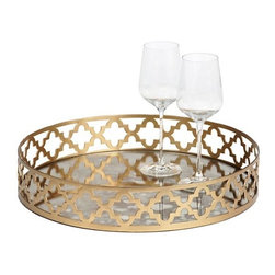 Meridian Tray - I adore this gold tray for serving wine or appetizers. It would also look good year-round on your coffee table housing magazines and a candle.