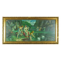 EuroLux Home - Consigned Antique Art Nouveau Color Lithograph from - Product Details