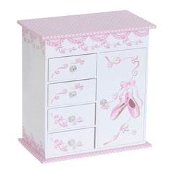 Mele Jewelry - Mele and Co. Carly Girl's Musical Ballerina Jewelry Box - Mele Jewelry - Jewelry Boxes - 0071211A
