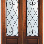 "Pre-hung Double Door 96 Wood Mahogany Charleston 3/4 Lite - SKU#    P18662WCH-G-WP834CH2CHBrand    GlassCraftDoor Type    ExteriorManufacturer Collection    3/4 Lite Entry DoorsDoor Model    CharlestonDoor Material    WoodWoodgrain    MahoganyVeneer    Price    4945Door Size Options      +$percent  +$percent  +$percentCore Type    Door Style    Door Lite Style    3/4 LiteDoor Panel Style    1 PanelHome Style Matching    Door Construction    PortobelloPrehanging Options    PrehungPrehung Configuration    Double DoorDoor Thickness (Inches)    1.75Glass Thickness (Inches)    Glass Type    Double GlazedGlass Caming    Glass Features    Low-E , TemperedGlass Style    Glass Texture    Water , Flemish , Baroque , Fluted , Rain , Glue Chip , ClearGlass Obscurity    Light Obscurity , Moderate Obscurity , Highest Obscurity , No ObscurityDoor Features    Door Approvals    Wind-load Rated , FSC , TCEQ , AMD , NFRC-IG , IRC , NFRC-Safety GlassDoor Finishes    Door Accessories    Weight (lbs)    719Crating Size    25"" (w)x 108"" (l)x 52"" (h)Lead Time    Slab Doors: 7 Business DaysPrehung:14 Business DaysPrefinished, PreHung:21 Business DaysWarranty    One (1) year limited warranty for all unfinished wood doorsOne (1) year limited warranty for all factory?finished wood doors"