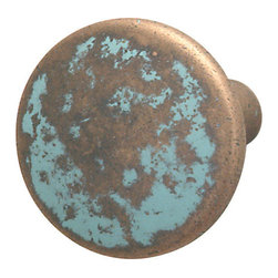 Hafele - Copper Cabinet Knobs - Hafele item number 123.27.032 is a beautifully finished Copper Cabinet Knobs. Product Diminsion(s): Hole Spacing: 96.012 mm. / 3 25/32 in.Diameter: 44.958 mm. / 1 25/32 in.Projection: 45.974 mm. / 1 13/16 in.